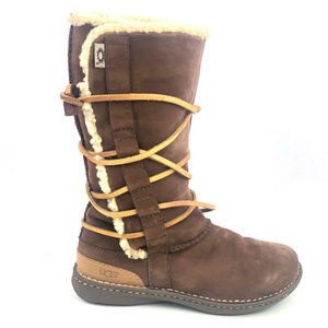 Ugg Boots Tall Catalina 1634 Suede Leather Lace Up